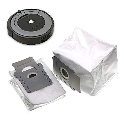 Sunnyushine Bolsas automáticas de eliminación de la suciedad del robot, bolsa de polvo de baja limpieza de las piezas de repuesto para el aspirador de iRobot Roomba S9 I7 +7 I / I7 más E5 E6 E7