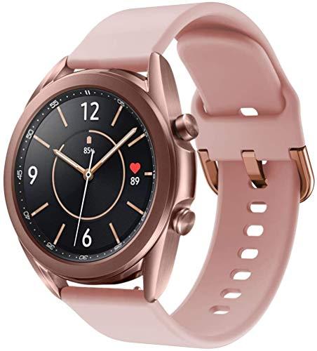 Pulseira Sport Nandos-Store compatível com Samsung Galaxy Watch 3-41mm e 45mm - (41mm - Rose)