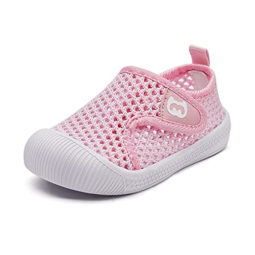 BMCiTYBM Baby Girl Shoes Infant First Walking Shoes Breathable Mesh Lightweight Sneakers Non-Slip Walker Shoes 6 9 12 18 24 Month Pink 6-12 Months Infant