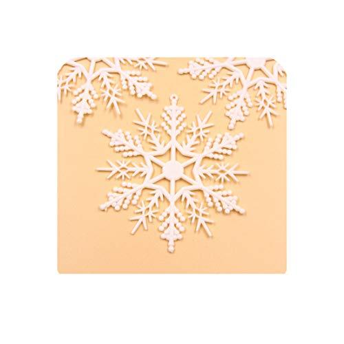 1 Pack witte plastic nep sneeuwvlok voor thuis kerstfeest DIY scène jaar boom hangers ornamenten raamdecoratie