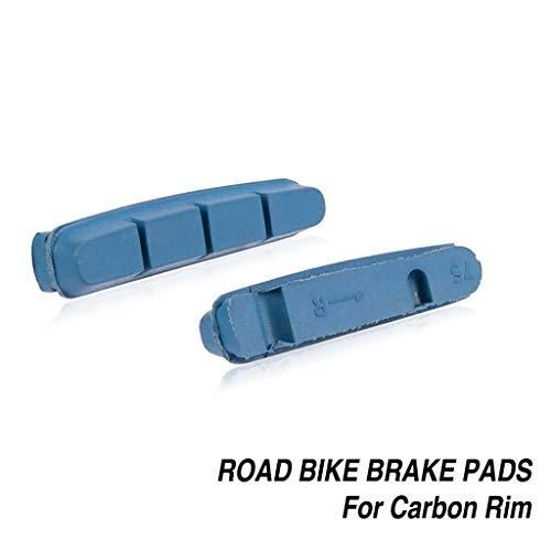 User 1 Pairs Bicycle V Brake Pads Carbon Rim Brake Shoes for Road Bike Wheels