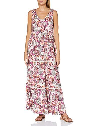 comma Damen 87.005.81.2243 Kleid, 40A2 Light pink AOP, 40