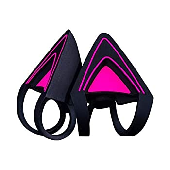 Razer Kitty Ears for Kraken Headsets  Compatible with Kraken 2019 Kraken TE Headsets - Adjustable Straps - Water Resistant Construction - Neon Purple