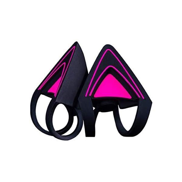 Razer Kitty Ears For Kraken Headsets Compatible With Kraken 2019 Kraken Te Headsets Adjustable Straps Water Resistant Construction Neon Purple