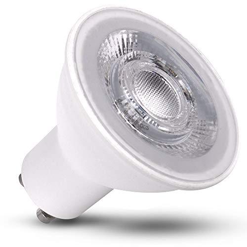 Juego de 10 bombillas LED GU10, 5 W, 3 niveles de intensidad regulable, luz blanca neutra, MR16, repuesto para bombilla halógena