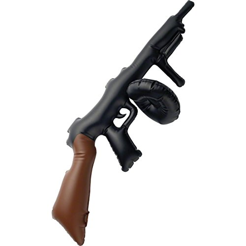 taglia: lunghezza: ca. 75cm colore: nero - marrone materiale: plastica Volume di consegna: una mitragliatrice gonfiabile tipo gangster