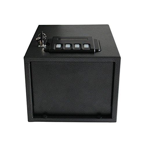 Review Caesar Safe Hardware Portable Electronic Gun Vault Safe, Small, Black