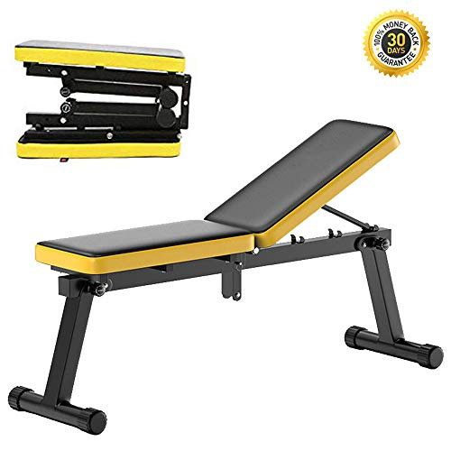 HSJLH Dumbbell Draagbare vouwstoel, in hoogte verstelbare multifunctionele home-fitness, gewichtheffend bed, comfortabel en duurzaam, geschikt voor navelpiercing