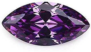 50pcs 1.5x3~10x20MM AAAAA Marquise Amethyst Purple Loose cz Stone Cubic Zirconia Machine Cut Synthetic Gemstone (1.5x3mm 50pcs)