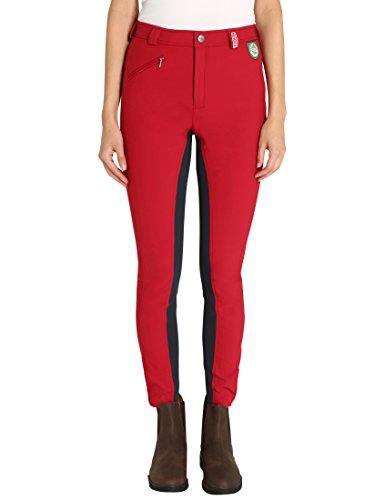 Damen RTS Bentex Reithose mit Vollbesatz, rot-blau, 42, 1003-184