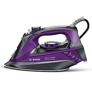 Bosch TDA703021I Sensixx`x DA70 i-Temp – Plancha de vapor, 3000 W, color gris y violeta