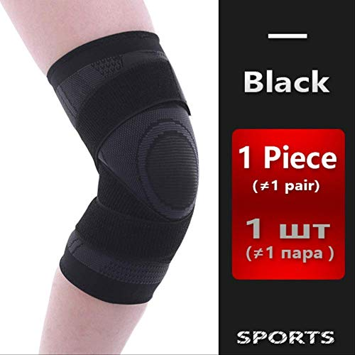 ACBIC Knee Support Professional Protective Sport-Knie-Pad Breath Bandage Knieorthese Basketball Tennis Fahrrad XXL Schwarz