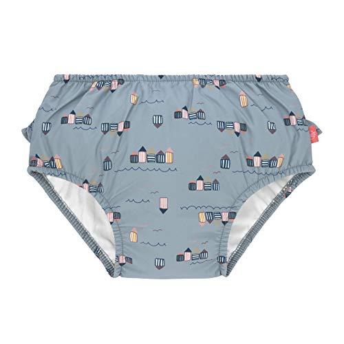 LÄSSIG Baby Schwimmwindel Badewindel wiederverwendbar waschbar Auslaufschutz UV-Schutz/Splash & Fun Baby Swim Diaper girls Beach House, 12 mo