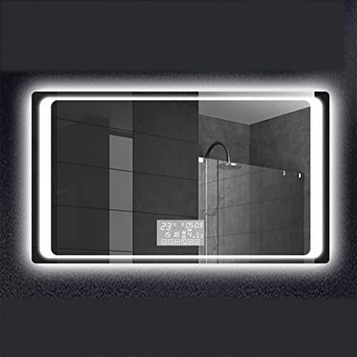 Verlichte LED-badkamerspiegel met ingebouwde Bluetooth-luidsprekers | Verwarmde Demister-spiegelpad | Aanraakschakelaar | 800 X 600 mm