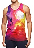 Mens Tank Tops Graphic Funny 90s Graphic Space Galaxy Vest Sport Sleeveless...
