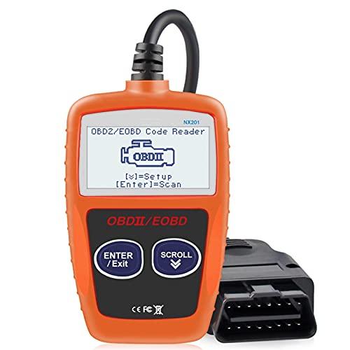ETXP Automotor NX201 OBD2 Código de escáner Reader Car MS309 Herramienta de diagnóstico automático OBD 2 Auto Diagnóstico Código de Motor Lector Herramienta de escaneo de diagnóstico del vehículo