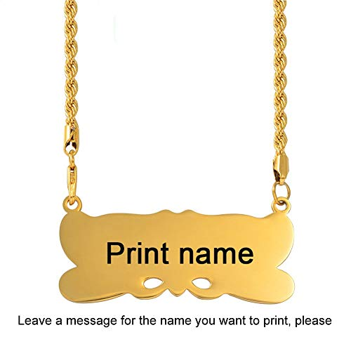 Personalizar Nombre Colgante Cadena Trenzada para Hombres Mujeres Personalizar Marshall Guam Hawaii Islas joyería Micronesia