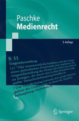 Medienrecht (Springer-Lehrbuch)