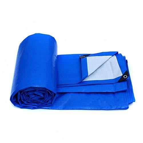 GZA Tarpa De Agua A Prueba De Agua Azul Tapa De Techo De Lona Pesada Jardín Cubierta De Lluvia Tarpaulin - Protección UV (Size : 12MX8M)