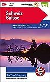 Schweiz: Velokarte, Massstab 1:301 000, waterproof (Kümmerly+Frey Velokarten): Touristische Velokarte