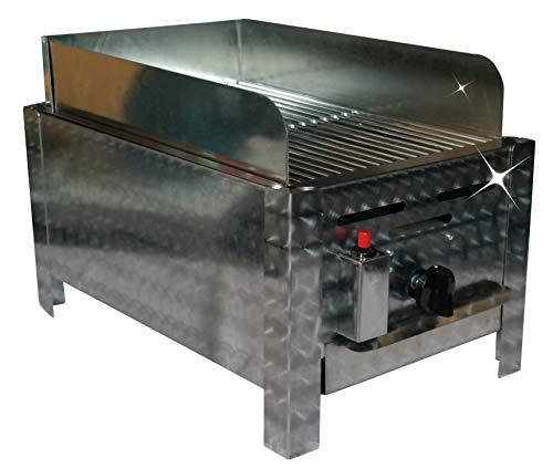 YOURGRILL Premium Gasgrill 1 flammig mit Windschutz Bräter Gas BBQ Gastro-Grill Tischgrill Edelstahl 1 Brenner 3,6 KW umfangreiches Systemzubehör erhältlich Geschenkidee Lieferung bequem nach Hause!
