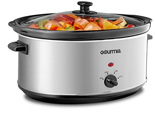 Gourmia PC710 Slow Cooker - Oval - Auto Mode - Cool Touch...