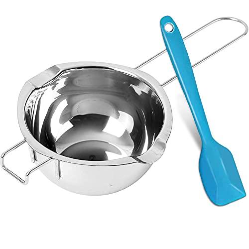 Wasserbad-Schmelzschale 600ml Schmelztopf 304 Edelstahl Schmelzschüssel Schmelzen Topf mit Spatel für Schokolade Butter kerzenwachs - spülmaschinengeeignet