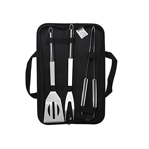 LQKYWNA 3-teiliges Grillwerkzeug-Set, Kochzange, Edelstahl, Grill-Zubehör-Set für Küche/Outdoor
