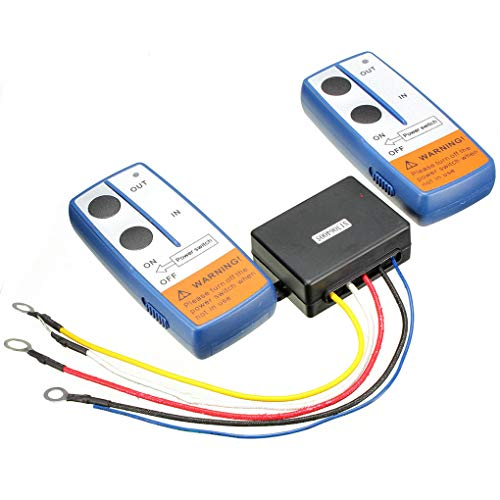 wanzhaofeng Recuperación inalámbrica Winch 2 Control Remoto Kit Auricular conmutador compatibles para ATV SUV Carro 12V de 100 pies