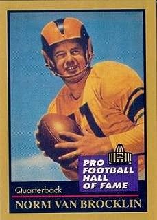 Norm Van Brocklin football card (St. Louis Rams) 1991 Enor #145 Pro Football Hall of Fame Quarterback