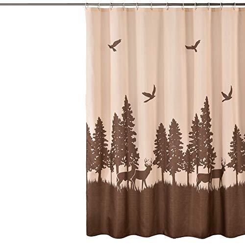 No logo LYYL Busi Dicke wasserdichte Polyester Duschvorhang Bad WC Trennwände for meta Deer Druck (Size : 200 * 180cm)
