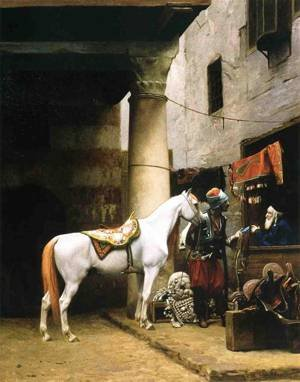 GFM Painting amp; # x2C6; pintura al óleo Reproductions de Arab purchasing a briide 1881, pintura & # x2C6; La aceite xjean Leon Gerome, 72 By 96 inches