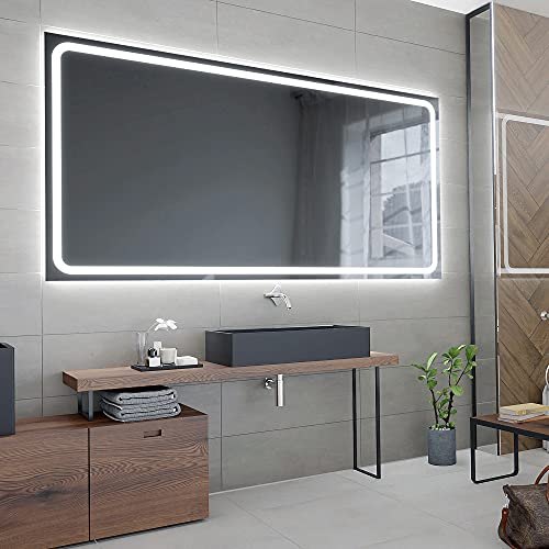 ARTTOR Espejos Pared - Espejo Baño - Decoracion Hogar - Espejos Decorativos - Muchos Tamaños - Pequeños y Grandes - Rectangulares y Cuadrados - M1ZP-58-80x60