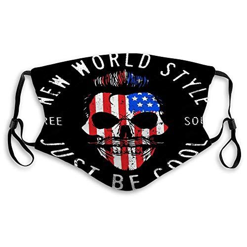 Frauen Männer Atmungsaktives halbes Gesicht Mund Hipster Schädel USA Flagge Mode Stil Hipster Gesicht