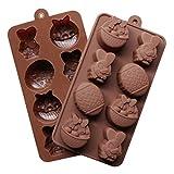 Molde de Silicona DIY Molde de Chocolate Huevos Conejito de Pascua Cubo de Hielo Canasta Forma Molde de la Torta