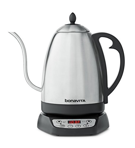 Bonavita 1.7L Variable Temperature Control Kettle, 1.7 Liters, Silver & Black