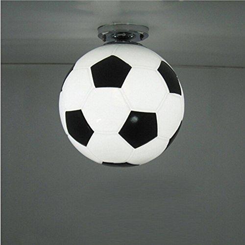AMZH Fútbol luz de techo Creative sala de niños LED lámparas de techo 110V 220V Diámetro 25cm