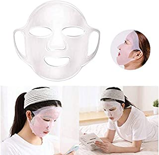 Facial Mask Cover, Reusable Face Silicone patches, Anti-off Moisturizing Sheet Mask Cover (Transparent)