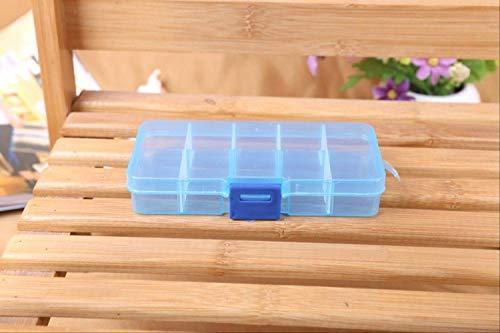 Zfggd 1pcs de plástico 6/815 cajas de almacenaje de ranuras de embalaje accesorios de joyería ajustable de la caja de herramientas transparente organizador del arte de la casilla 8