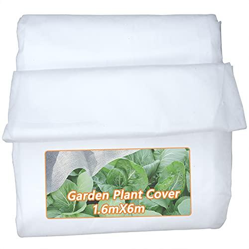 Akuoly Wintervlies für Pflanzen, Winterschutzvlies Frostschutz 30g/m² Gartenvlies Pflanzenschutz Winter Frost, Atmungsaktiv wasserdurchlässig, 1,6mx6m Weiß