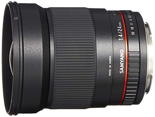 Objetivo Samyang 24mm. F/1.4 para Canon EF