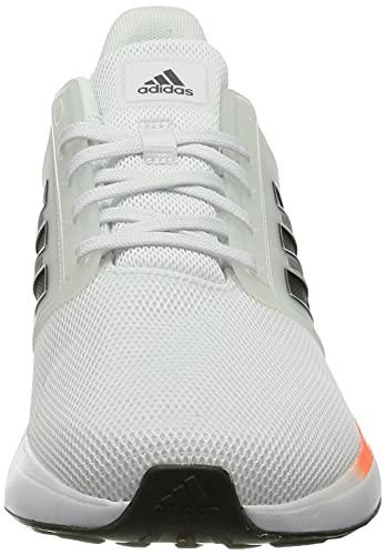 adidas EQ19 Run, Zapatillas de Running Hombre, FTWBLA/Carbon/Rojsol, 42 2/3 EU