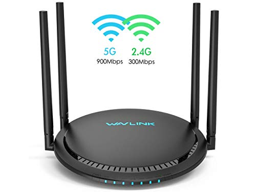 WAVLINK AC1200 Dual Band WiFi Router, Gigabit Ethernet Port Wireless Router WiFi Speed up to 867 Mbps/5 GHz + 300 Mbps/2.4, Touch Link, USB Port for FTP, App Control (531G3)