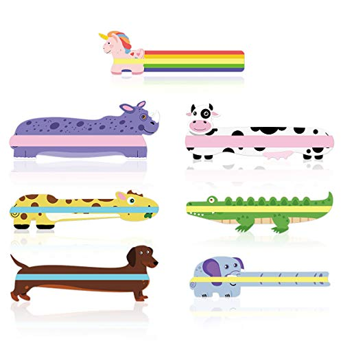 PAPERKIDDO Guided Reading Strips, Animal Highlight Bookmarks Help with Reduce Visual Stress - Reading Tracking Rulers for Children, Teachers, and Dyslexics People