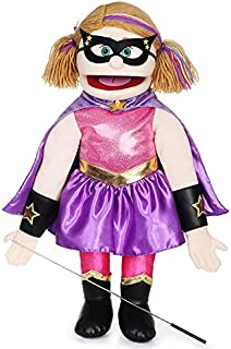 "25"" Superhero, Peach Girl, Full Body, Ventriloquist Style Puppet"