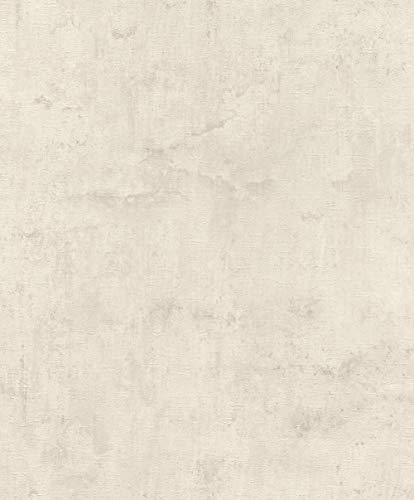 Rasch Tapeten Vliestapete (natürlich) Weiß Creme 10,05 m x 0,53 m Tapetenwechsel 407358 Tapete, 10.05