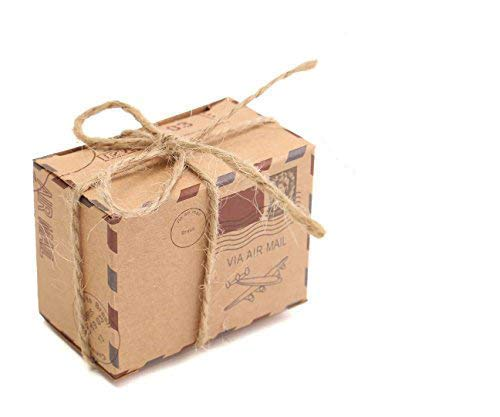 E-Goal 50Pcs/Pack Mini-Koffer Hochzeits-Bevorzugungs-Süßigkeit-Kasten für...
