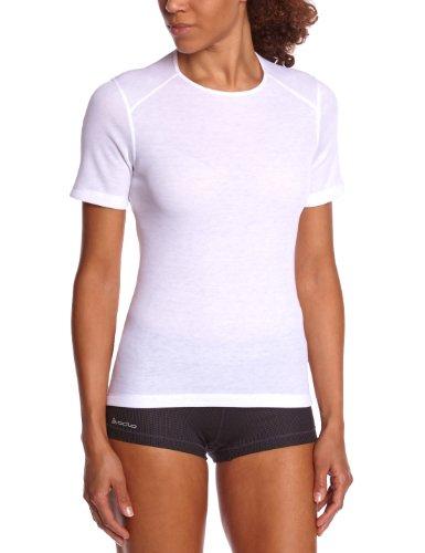 Odlo Originals Warm T-Shirt chaud col rond manches courtes femme Blanc Taille Fabricant : M
