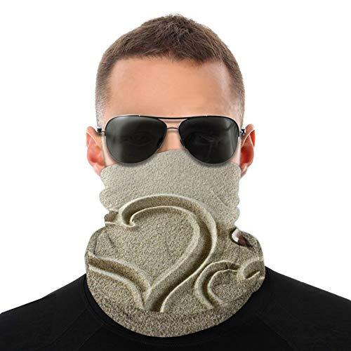 Vielfalt Kopftuch, Herzformen Finger auf Sand und Waschbecken, Muschel, niedliches Liebesfoto, Outdoor Multifunktionstuch Kopftuch für Männer und Frauen
