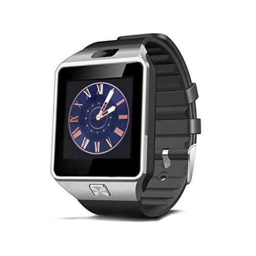 XUEYAN521 Aktivitäts-Tracker Smart Watch dz09 smartwatch Android anruf relogio 2g GSM SIM 16/32 g sd Karte kameraband für iPhone Samsung Huawei, Silber